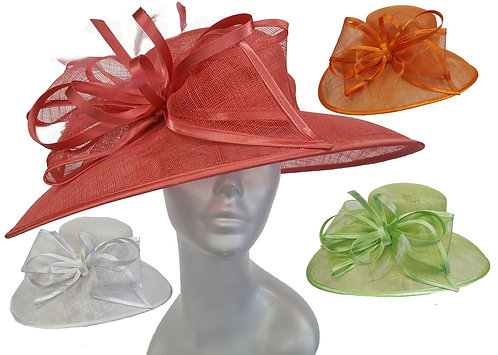 Women's Designer Dressy Kentucky Derby Sinamay Straw Summer Wedding Hat #SW9066