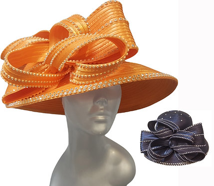 Dressy Satin ribbon church hat is perfect for Church, Mother's Day