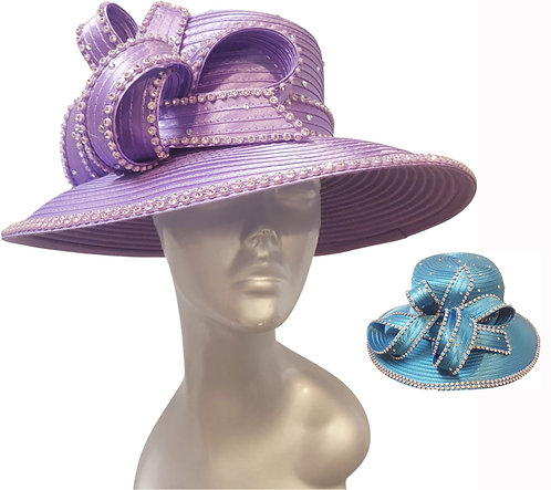 Satin ribbon church hat is perfect for Church, Mother's Day or and spec