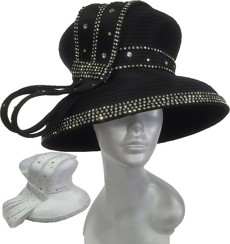 Women's Year-Around Satin Ribbon Designer Couture church derby Hat #H1882