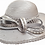 Thumbnail: Beautiful Rhinestones satin ribbon church Designer Couture hat
