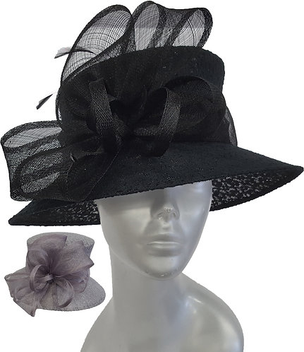 Women's Designer Straw Sinamay Derby Mothers day Easter Sunday Hat #SW9063