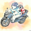 Thumbnail: 「シロクマとペンギン・タンデムツーリング」ポストカード1枚