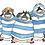 Thumbnail: なでがたペンギン・ステッカー  青  1枚
