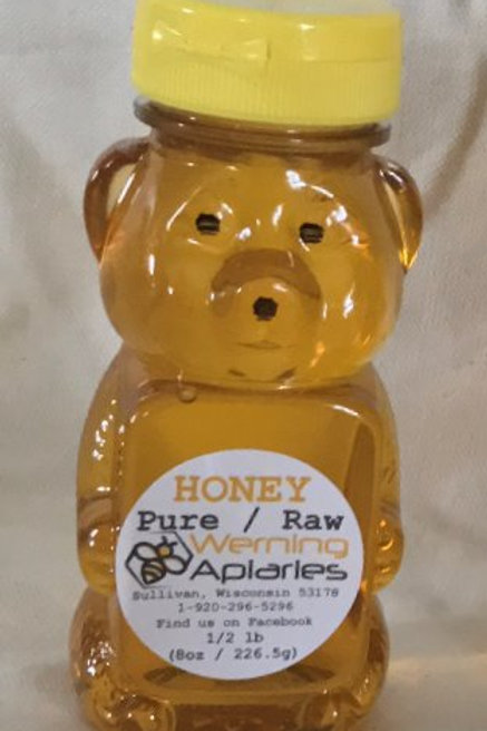 8 oz Raw Honey Squeeze Bear