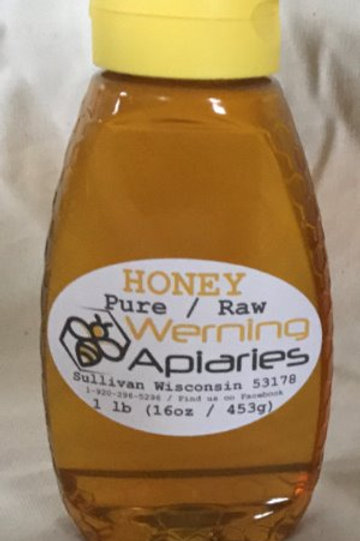 16 oz Raw Honey Squeeze Bottle