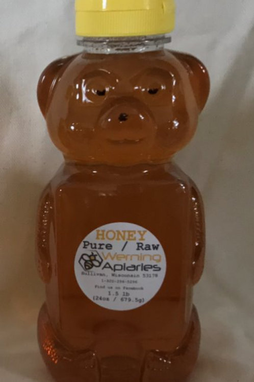 24 oz Raw Honey Squeeze Bear