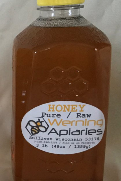 48 oz Raw Honey Squeeze Bottle