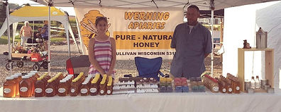 selling pure raw unfiltered natural honey werning apiaries sullivan WI