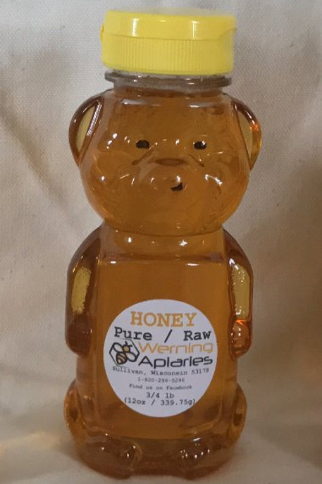 12 oz Raw Honey Squeeze Bear