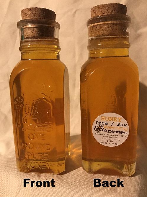 16 oz Raw Honey Glass Muth Jar