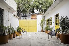 Art studios patio