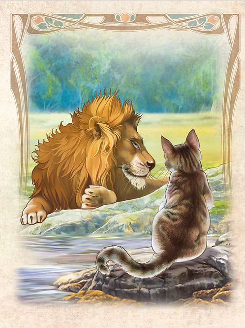 The Cat and the Lion ART PRINT