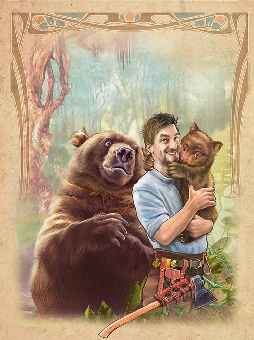 The Bear and the Man ART PRINT