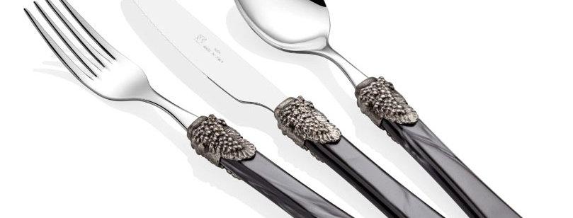 Syrah Siyah 75 Parça Çatal Bıçak Seti