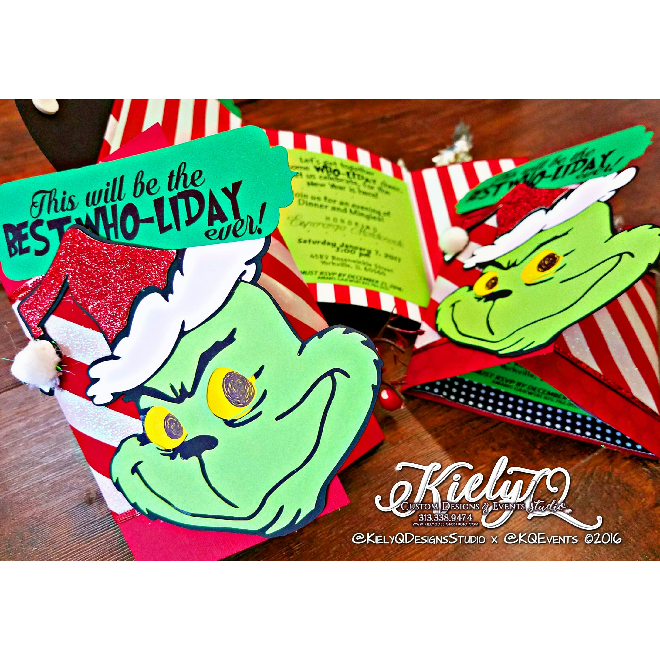 Grinch-mas Holiday Invites