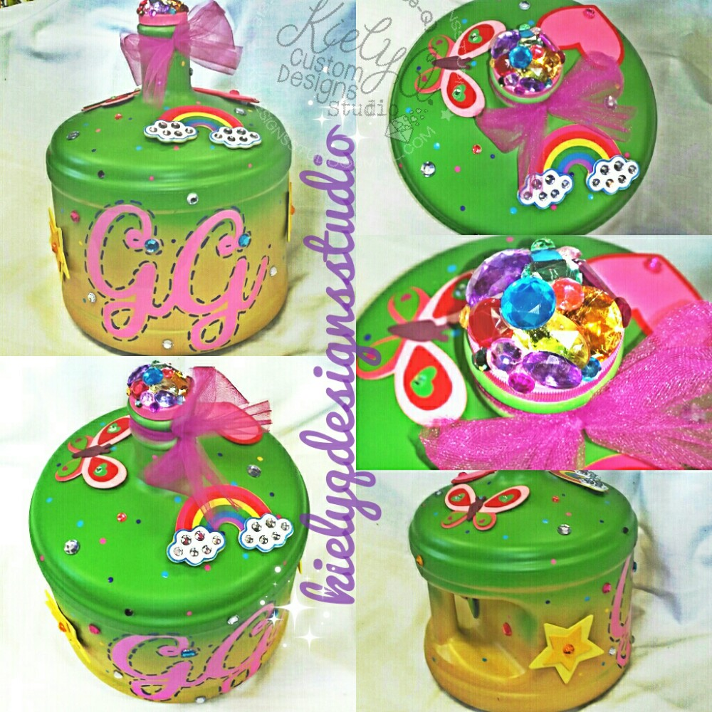 HandPainted & Adorned Penny Bank