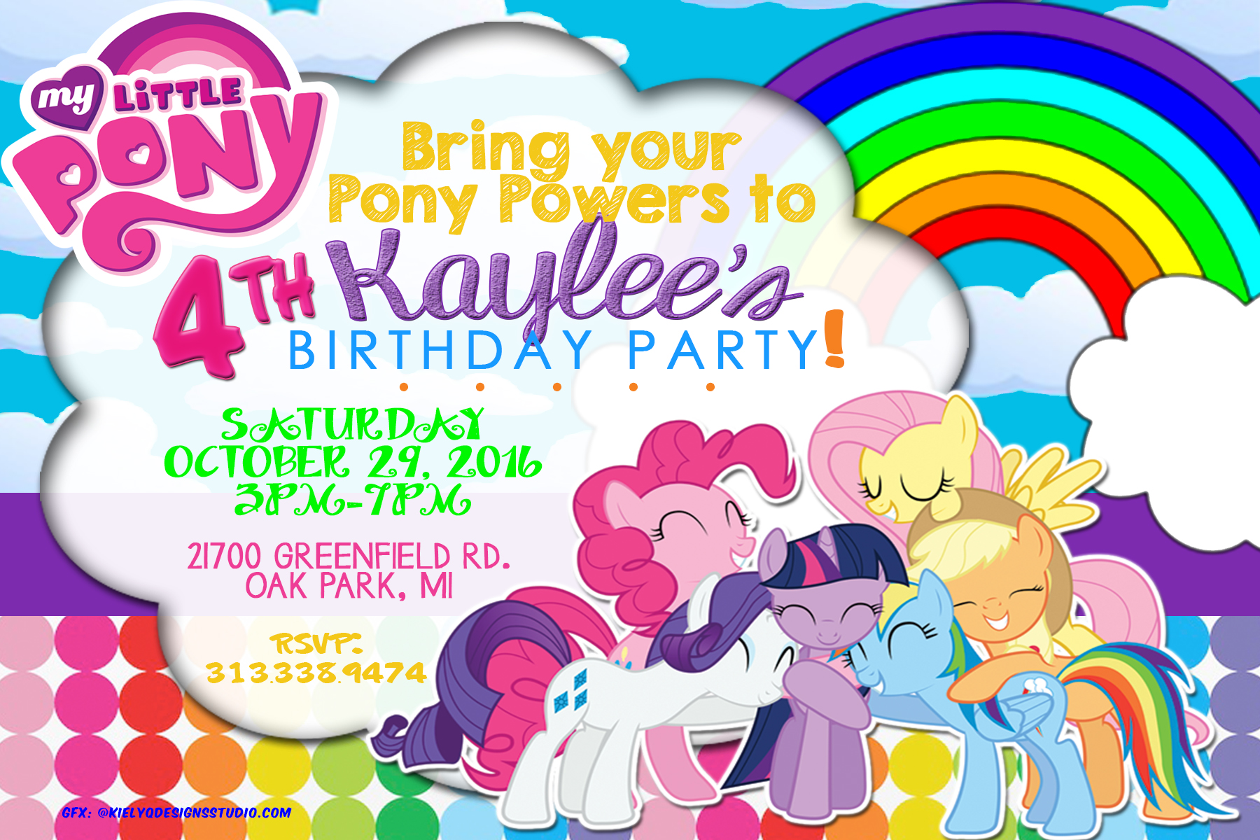 My Little Pony Party InvitationFlyer