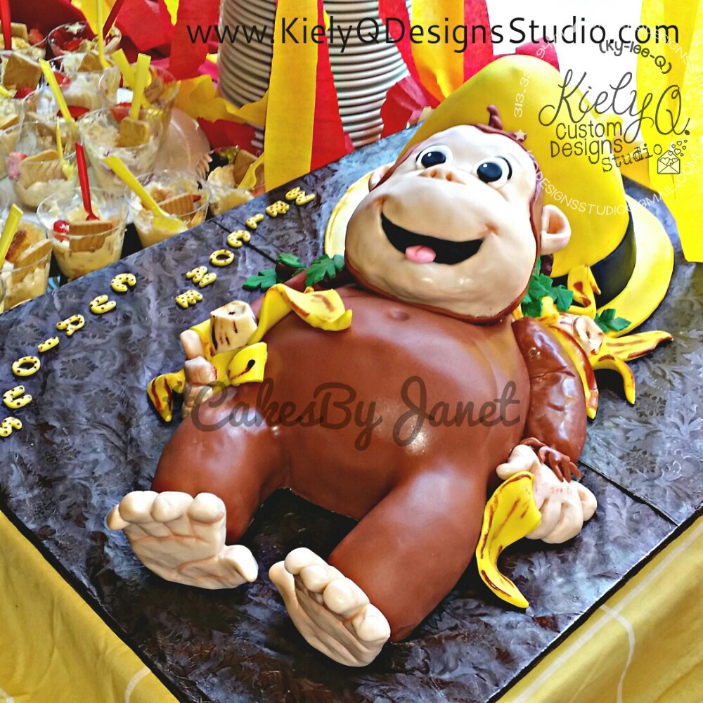 Curious George Inspired Cake