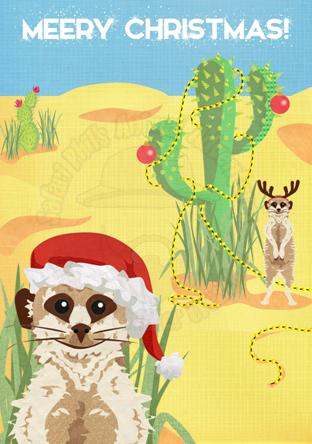 Crittermas Card - Meery Christmas