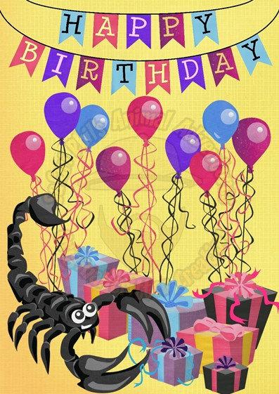 Birthday Card - Scorpion