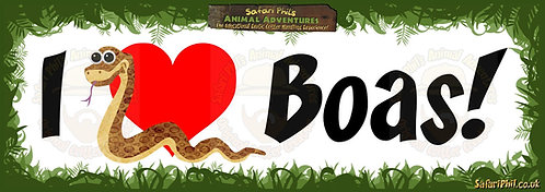 'I heart Boas!' Jumbo Sticker