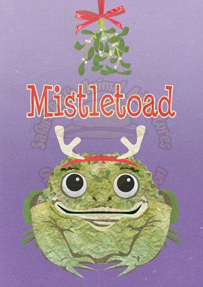 Crittermas Card - Mistletoad