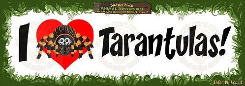 'I heart Tarantulas!' Jumbo Sticker