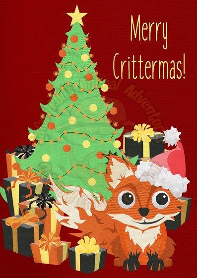 Crittermas Card - Fox