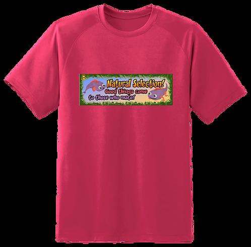 'Natural Selection' Pink T-Shirt Mens