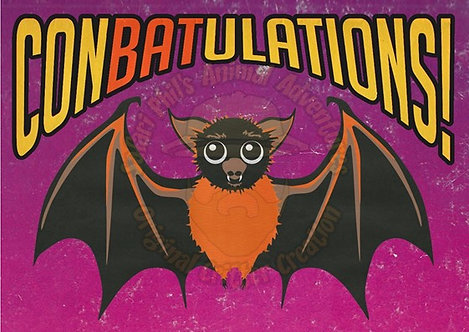 Congratulations Card - 'ConBATulations'
