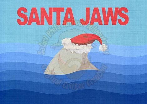 Crittermas Card - 'Santa Jaws'