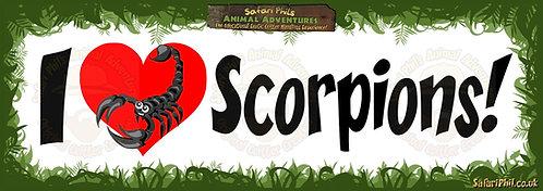 'I heart Scorpions!' Jumbo Sticker