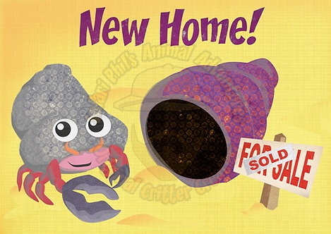 New Home Card - Crab