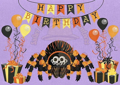 Birthday Card - Tarantula
