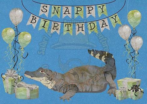 Birthday Card - Caiman