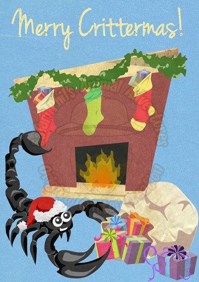Crittermas Card - Scorpion