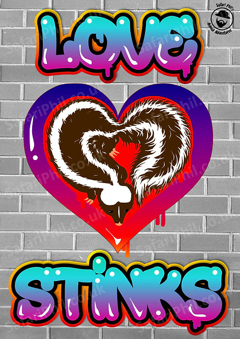 'Love Stinks' A1 poster