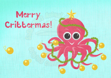 Crittermas Card - Octopus