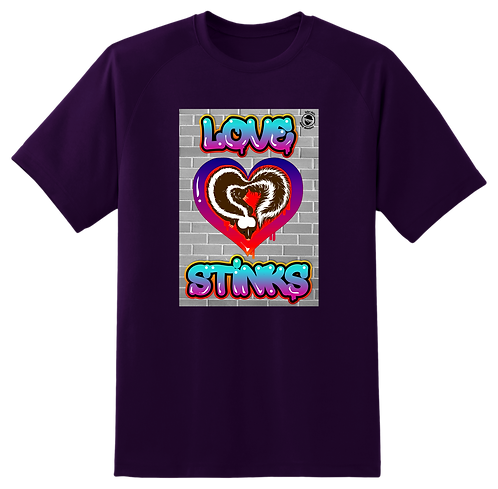 'Love Stinks' Purple T-Shirt Mens