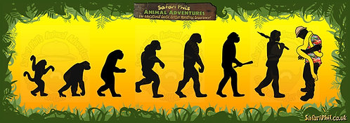 'The Evolution of Safari Phil!' Jumbo Sticker