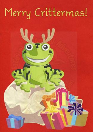 Crittermas Card - Frog