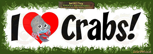 'I heart Crabs!' Jumbo Sticker