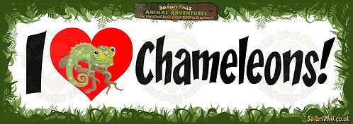 'I heart Chameleons!' Jumbo Sticker