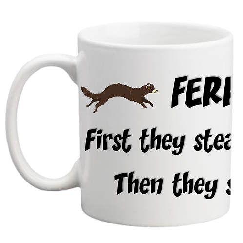 'Ferrets Steal Your Heart' Mug