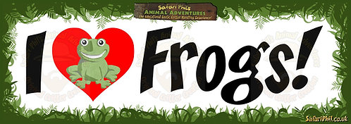 'I heart Frogs!' Jumbo Sticker