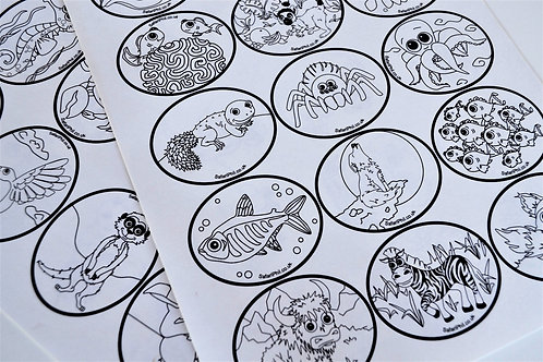 'Colour-Me-In' Sticker Sheets
