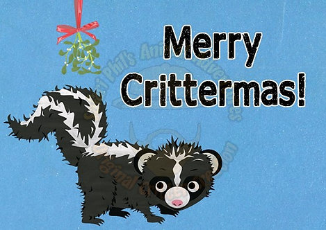 Crittermas Card - Skunk