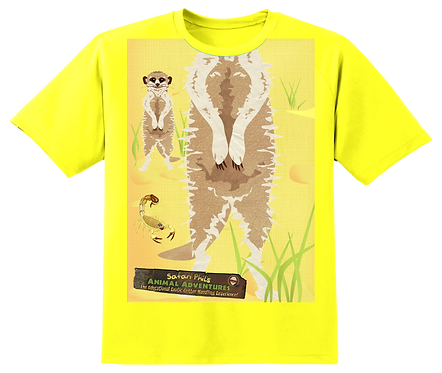 'Meerkat Body Board' Yellow T-Shirt Kids