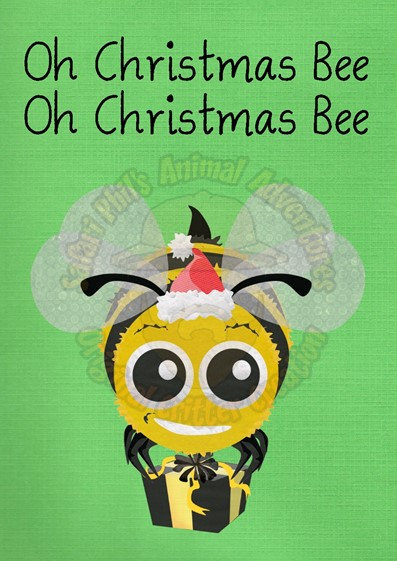 Crittermas Card - 'Oh Christmas Bee'